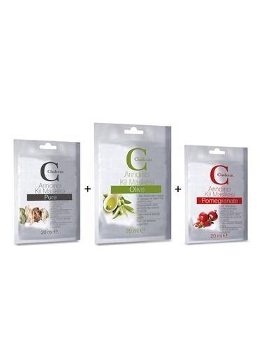 Claderm 20Ml 3'Lü (Pure-Olive-Pomegranate)  Avantaj Paketi Renksiz